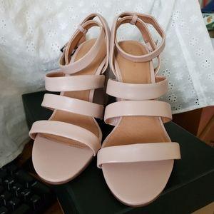 Halogen Harocco Lea Blush Leather Size 9